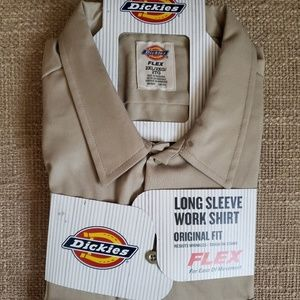 Mens dickies flex long sleeve work shirt 2XL